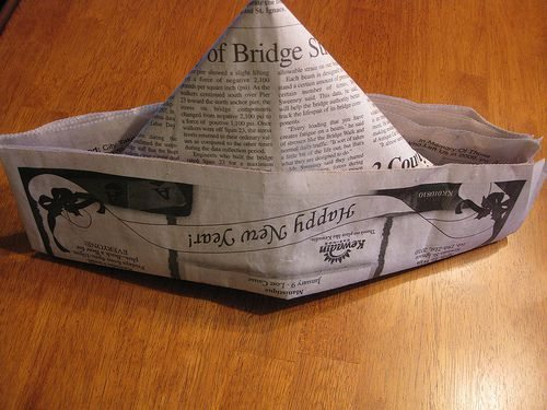 How To Make Paper Hat Out Of Newspaper