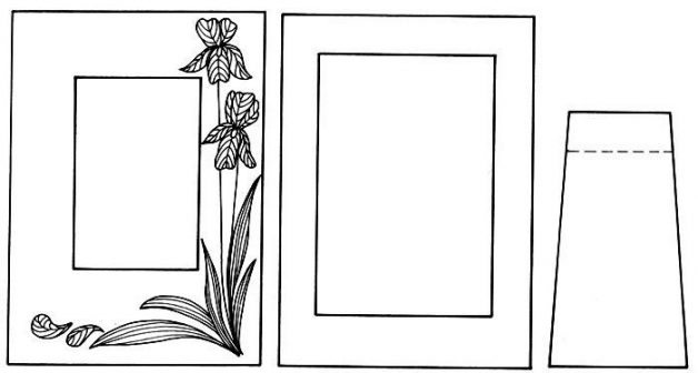 Cardstock Picture Frame Template