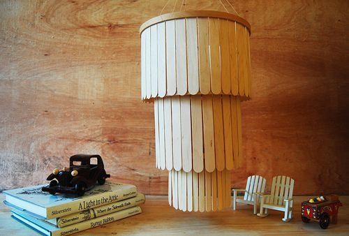 Popsicle Stick Chandelier