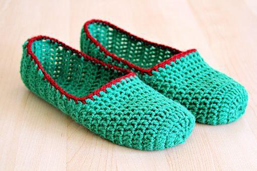 tejer pantuflas a crochet