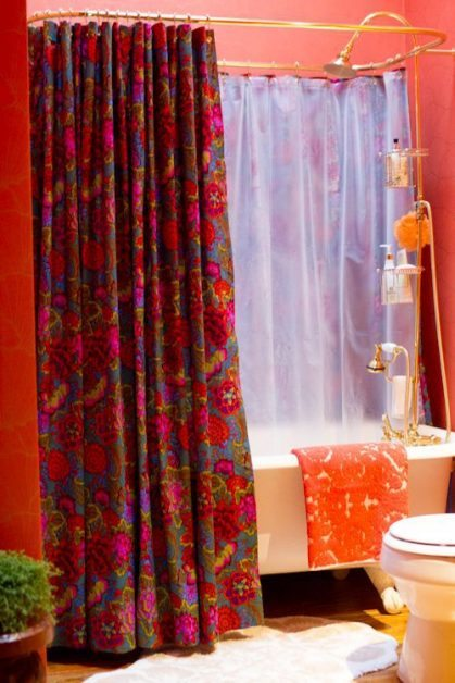 Cortinas De Baño En Tela:DIY Shower Curtain