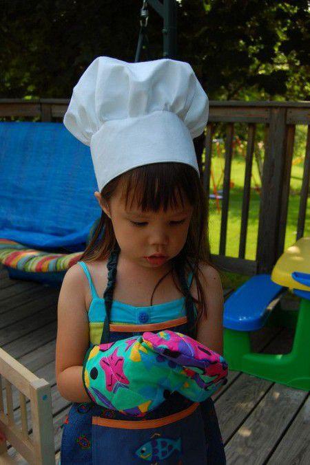como hacer gorros de chef para niños
