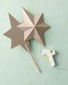 como hacer una estrella para el arbol de navidad