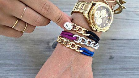 como hacer pulseras con cadenas