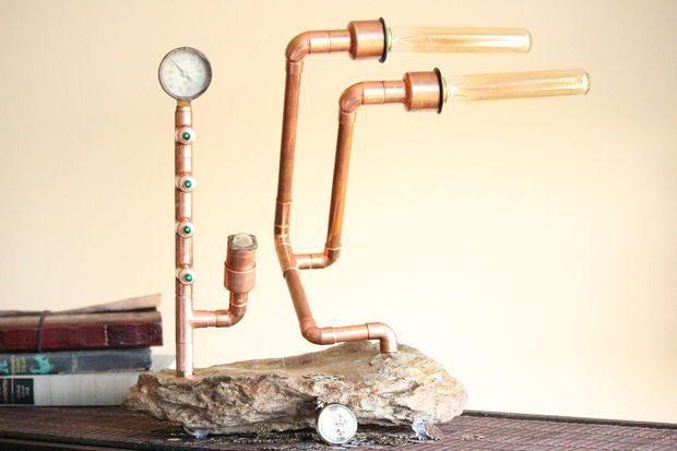Como hacer una original l mpara r stica todo manualidades - Como hacer una lampara rustica ...