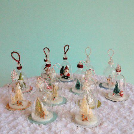 Como hacer adornos navide os nevados todo manualidades - Como realizar adornos navidenos ...
