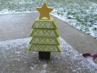 Como hacer un árbol navideño de madera