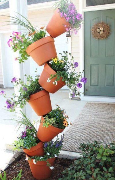 Como decorar el jardin con macetas todo manualidades - Como decorar reciclando ...