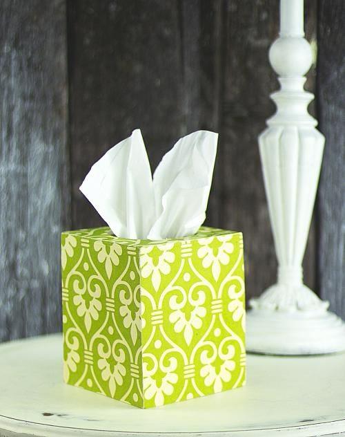 Como decorar una caja de pañuelos