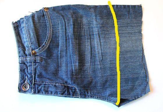 Como transformar un jean en un delantal