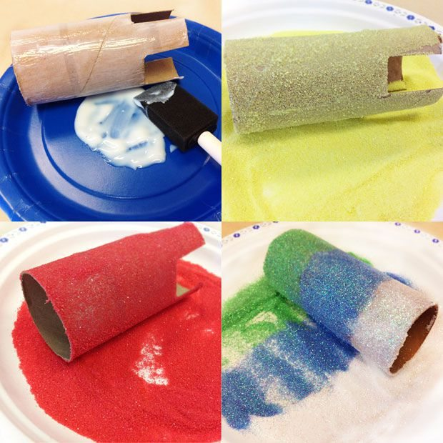 Como hacer un castillo con tubo de carton