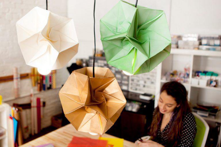 Como hacer lámparas origami