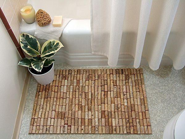 Como hacer una alfombra con corchos