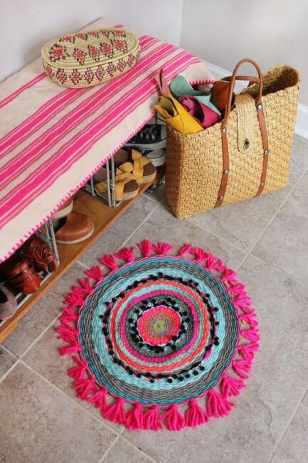 Como hacer una alfombra tejida circular