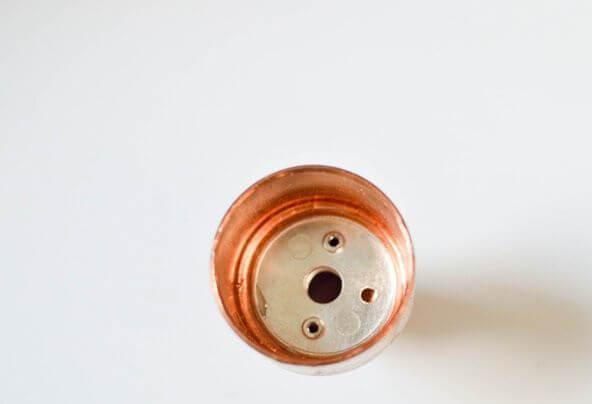 Como hacer una lampara de cobre y madera 1