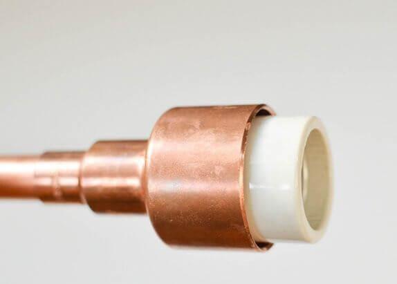 Como hacer una lampara de cobre y madera 12