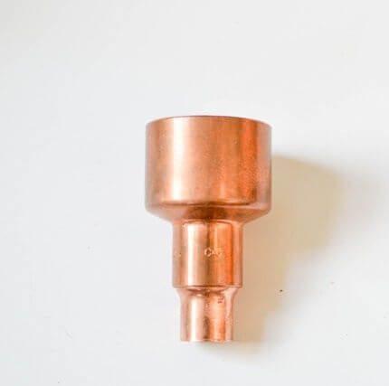 Como hacer una lampara de cobre y madera 3