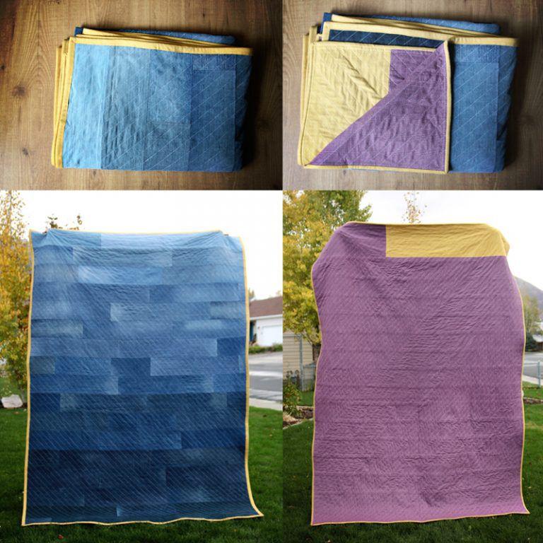 Como hacer una manta reciclando jeans