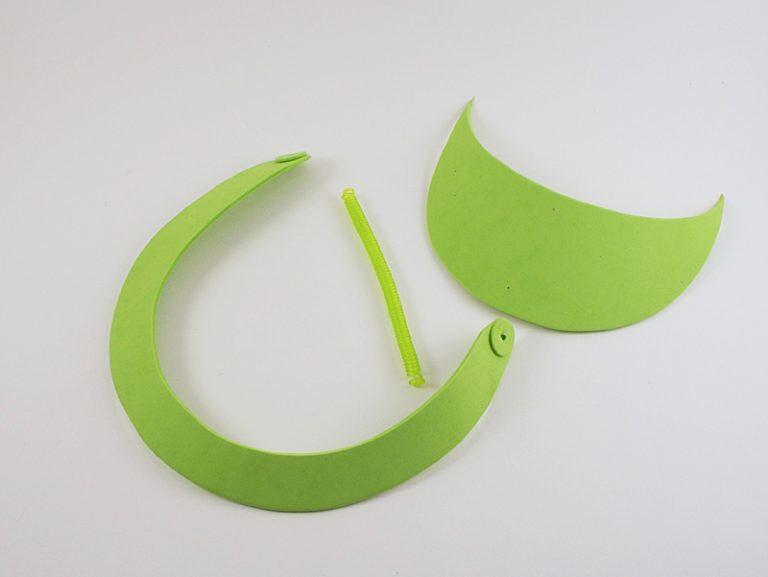 Como hacer una visera con diseño de sandia