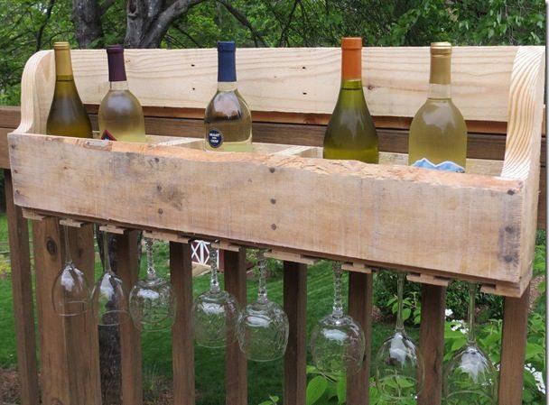 Como hacer un porta vinos con pallets