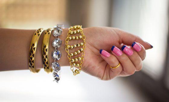 Como hacer una pulsera con cadenas 10