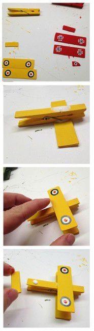 Como hacer avioncitos de madera 3